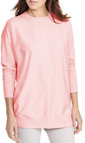 Lauren Ralph Lauren Petite Twill-Front Silk-Blend Sweater