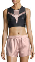 Lanston Zoe Metallic-Block Performance Sports Bra