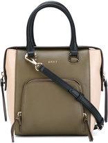 DKNY contrast cross body bag - women - Leather - One Size
