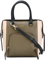 DKNY contrast crossbody bag - women - Leather - One Size