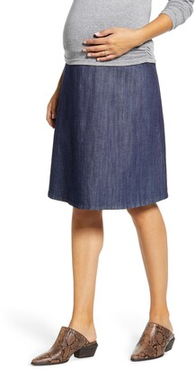 Maternal America Flared Maternity Skirt