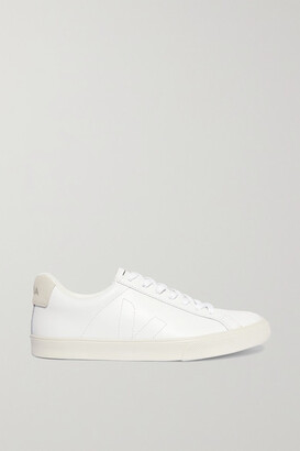 Veja Net Sustain Esplar Suede-trimmed Leather Sneakers - White