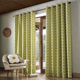 Orla Kiely Linear Stem Eyelet Curtains - Olive - 168x183cm