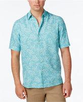 Tasso Elba Men's Leaf Print Short-Sleeve Shirt, Only at Macy's