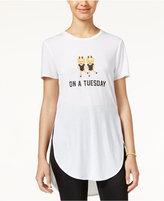 Freeze 24-7 Freeze Juniors' Emoji High-Low Graphic Tunic
