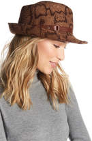 Eric Javits Python Print Wool Classic Water Repellent Fedora