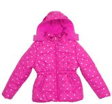 Pink Platinum Baby Girl Star Heavyweight Hooded Puffer Jacket
