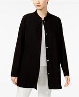 Eileen Fisher Washable Crepe Mandarin-Collar Jacket, Regular and Petite