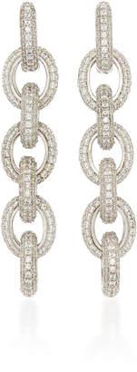 Fallon Pave Link Drop Earrings