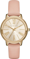 MICHAEL Michael Kors 38mm Round Watch w/ Leather Strap