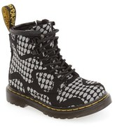 Dr. Martens Toddler Girl's Print Combat Boot