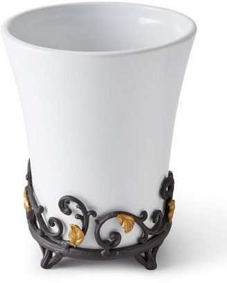 GG Collection G G Collection Gold Leaf Wastebasket