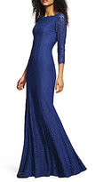 Adrianna Papell Scalloped Lace Gown