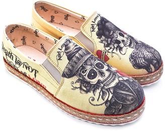 Goby Sugar Skull Printed Platform Slip-On Sneaker