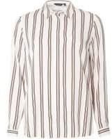 Dorothy Perkins Womens Ivory Stripe Print Shirt