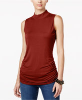 INC International Concepts Ruched Mock-Turtleneck Top, Only at Macy's