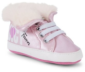 Juicy Couture Baby Girl's Faux Fur-Lined High-Top Sneakers