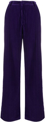 AMI Paris Corduroy-Effect Wide-Leg Trousers