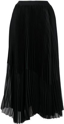 Fabiana Filippi Sheer-Panel Pleated Skirt