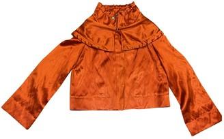 Escada Orange Silk Jacket for Women