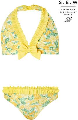 Under Armour Layla Lemon Bikini Set with Recycled Fabrics Yellow