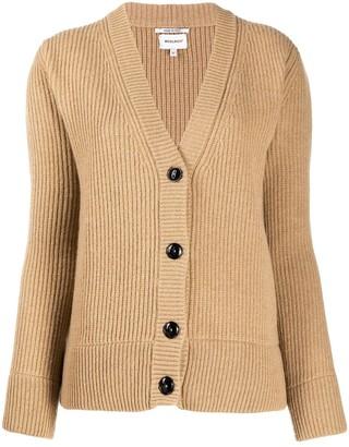Woolrich V-neck chunky knit cardigan