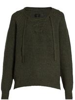 Nili Lotan Alix lace-front cashmere sweater