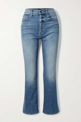 Mother The Tripper High-rise Straight-leg Jeans - Light denim