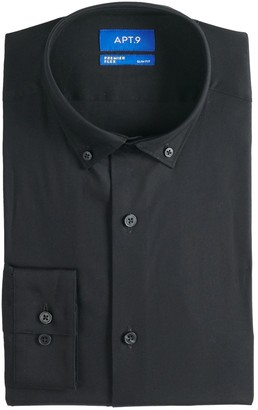 Apt. 9 Men's Slim-Fit Stretch Button-Down Collar Dress Shirt