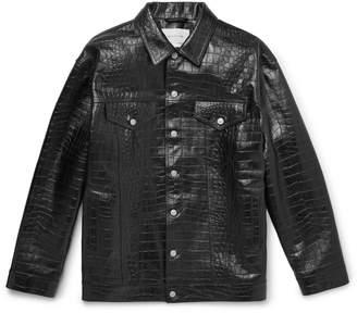 Alyx Oversized Croc-Effect Leather Overshirt
