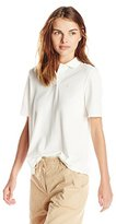 Lacoste Women's Short Sleeve Pique Polo Shirt with Pleated Back