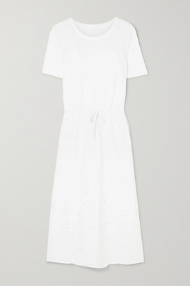 See by Chloe Cutout Cotton-jersey Midi Dress - White