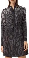 AllSaints Sanko Sinai Silk Shirt Dress