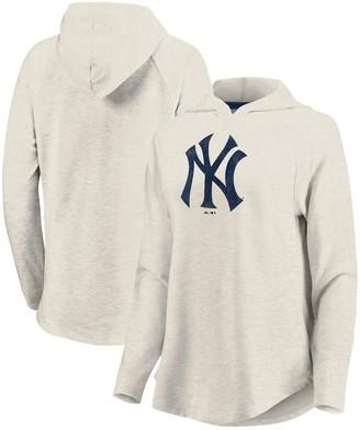 New York Yankees Women's Fanatics Branded Cream Game Lead Pullover Hoodie