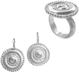 Chen Fuchs Jewelry Byzantine Medieval Round Earrings & Ring Set