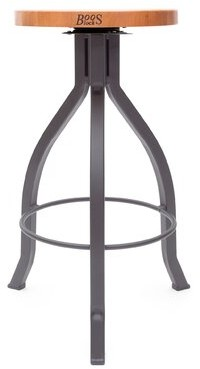 "John Boos Foundry Swivel Counter & Bar Stool Seat Height: ""Bar Stool (31.5"" Seat Height)"", Color: Gray"
