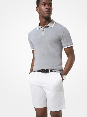 Michael Kors Cotton Jacquard Polo Shirt