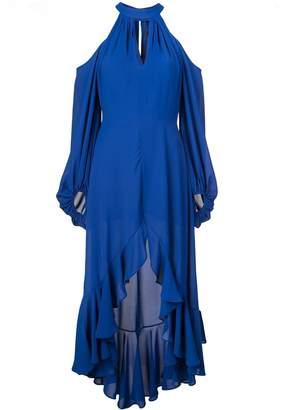 Nha Khanh cold-shoulder dress