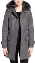 Pendleton Women's Portland Wool Duffle Coat With Genuine Fur Trim