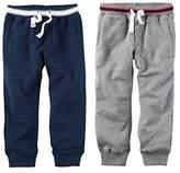 Carter's Toddler Boys 2 Pack Knit Fleece Active Pants 2