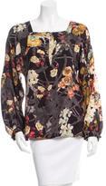 Just Cavalli Floral Print Silk Top