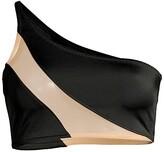 Thumbnail for your product : Norma Kamali Snake Mesh Bikini Top