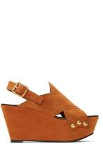 Chloé Tan Mischa Platform Sandals