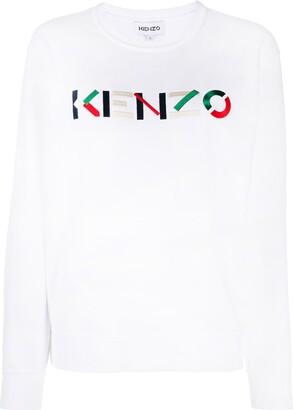 Kenzo Logo-Embroidered Round-Neck Sweatshirt