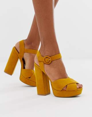 Qupid platform heeled sandals