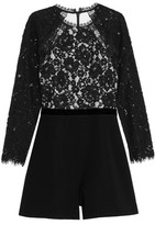 Alexis Tammy Corded Lace And Crepe Playsuit