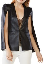 BCBGMAXAZRIA Upas Faux Leather Cape