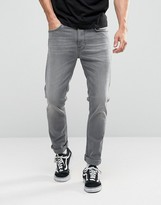 Nudie Jeans Lean Dean Slim Tapered Jeans Pine Gray
