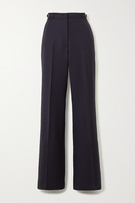 Gabriela Hearst Vesta Wool-blend Wide-leg Pants - Navy
