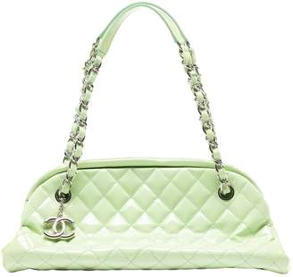 Chanel Mademoiselle Green Patent leather Handbags